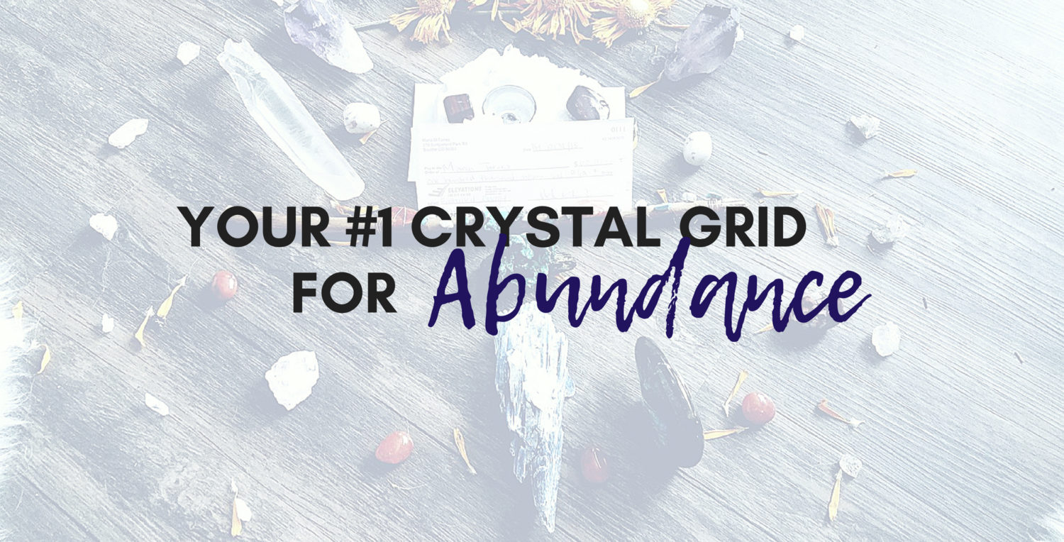 Your 1 Crystal Grid For Abundance Wealth Money Now Integral