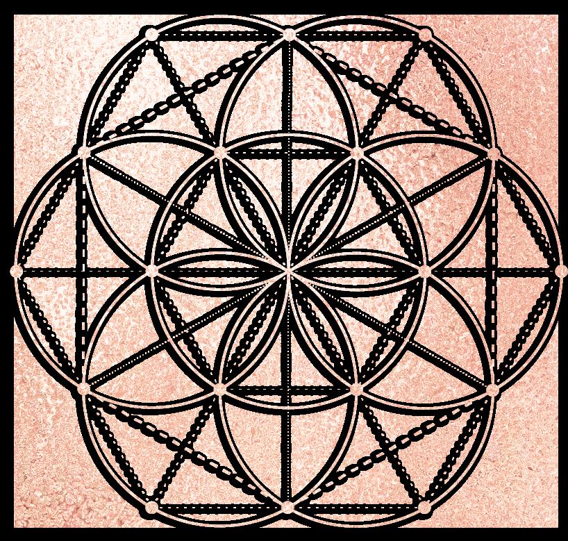 crystal grid for abundance seed of life